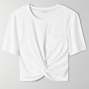 Aritzia Wilfred Free SUBAH T-SHIRT White Crop